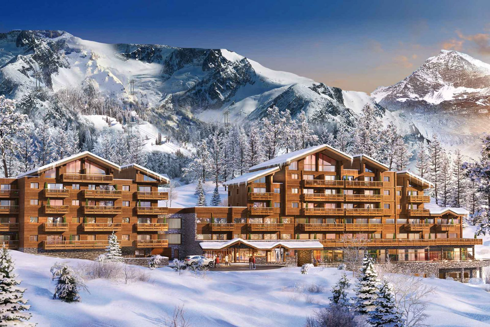 Le Lodge des Neiges, Tignes 1800 - Artists impression